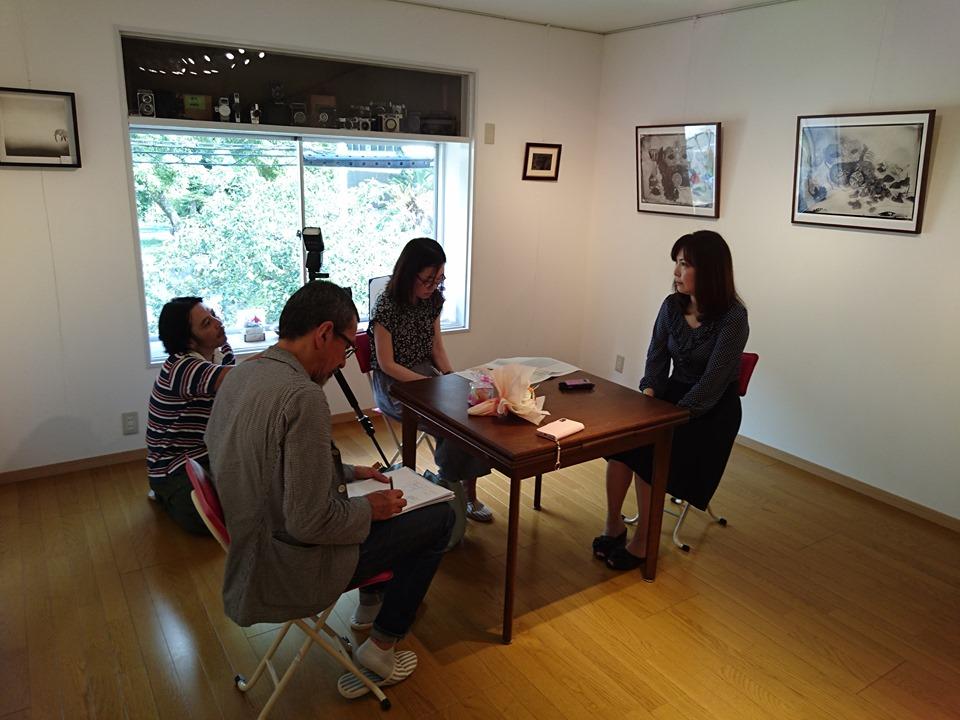 大阪芸術大学の取材を受けました